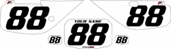 Fits Honda XR600 1988-2001 Pre-Printed Backgrounds White - Black Numbers by FactoryRide