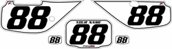 Fits Honda XR600 1988-2001 Pre-Printed Backgrounds White - Black Pinstripe by FactoryRide
