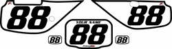 Fits Honda XR600 1988-2001 Pre-Printed Backgrounds White - Black Bold Pinstripe by FactoryRide
