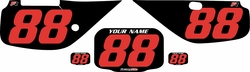 Fits Honda XR600 1988-2001 Pre-Printed Backgrounds Black - Red Numbers by FactoryRide
