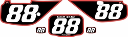 Fits Honda XR600 1988-2001 Pre-Printed Backgrounds Black - Red Bold Pinstripe by FactoryRide