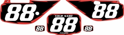Fits Honda XR600 1988-2001 Pre-Printed Backgrounds Black - Red Shock by FactoryRide
