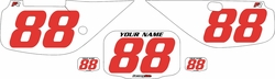 Fits Honda XR600 1988-2001 Pre-Printed Backgrounds White - Red Numbers by FactoryRide