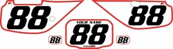Fits Honda XR600 1988-2001 Pre-Printed Backgrounds White - Red Bold Pinstripe by FactoryRide