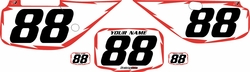 Fits Honda XR600 1988-2001 Pre-Printed Backgrounds White - Red Shock by FactoryRide