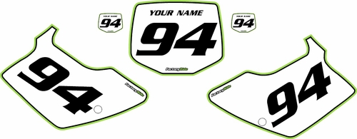1994-1998 Kawasaki KX125 Custom Pre-Printed Background White - Green Pro Pinstripe by Factory Ride