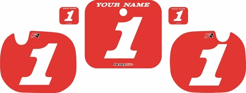 1984 Honda CR500 Custom Pre-Printed Background Red - White Numbers by Factory Ride