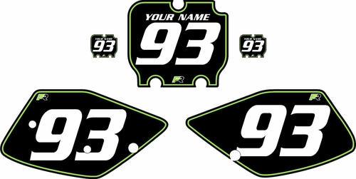 1992-1993 Kawasaki KX125 Pre-Printed Backgrounds Black - Green Pinstripe by FactoryRide