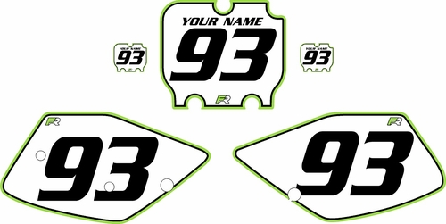 1992-1993 Kawasaki KX125 Custom Pre-Printed Background White - Green Pro Pinstripe by Factory Ride