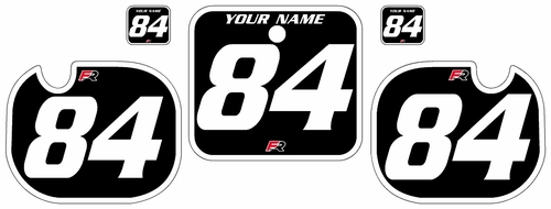 1984 Honda CR500 Black Pre-Printed Backgrounds - White Bold Pinstripe by Factory Ride