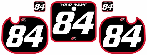 1984 Honda CR500 Pre-Printed Backgrounds Black - Red Bold Pinstripe by FactoryRide