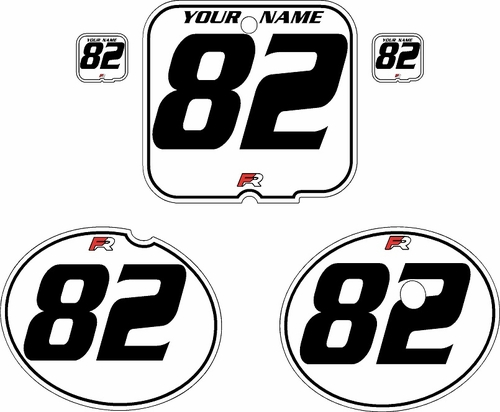 1981 Suzuki RM250 White Pre-Printed Backgrounds - Black Pinstripe by FactoryRide