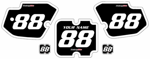 1988-1989 Kawasaki KX125 Custom Pre-Printed Black Background - White Bold Pinstripe by Factory Ride