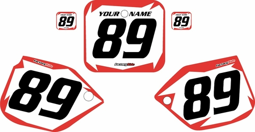 1989-1990 Honda CR500 Pre-Printed Backgrounds White - Red Shock Series by FactoryRide