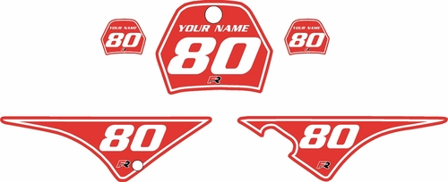 1996-2013 Yamaha PW80 Pre-Printed Backgrounds Red - White Pinstripe by FactoryRide