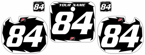 1984 Honda CR500 Black Pre-Printed Backgrounds - White Shock Series by Factory Ride