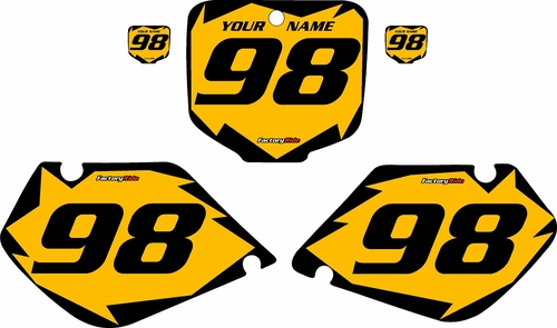 1997-1999 Honda CR250 Pre-Printed Backgrounds Yellow - Black Shock Series by FactoryRide