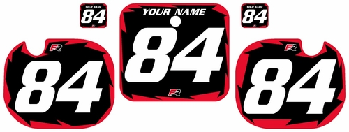 1984 Honda CR500 Pre-Printed Backgrounds Black - Red Shock Series by FactoryRide
