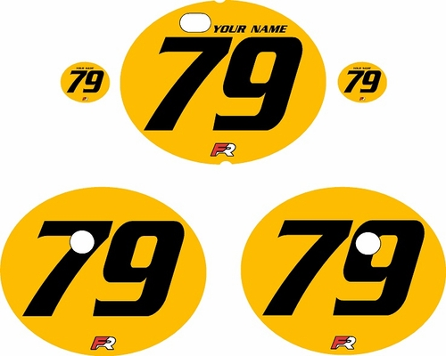 1979-1980 Suzuki RM125 Yellow Pre-Printed Backgrounds - Black Numbers by FactoryRide