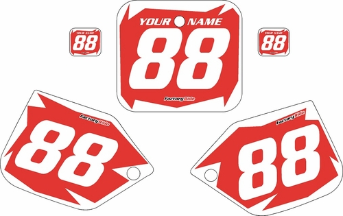 1987 Honda CR250 Pre-Printed Backgrounds Red - White Shock Series by FactoryRide