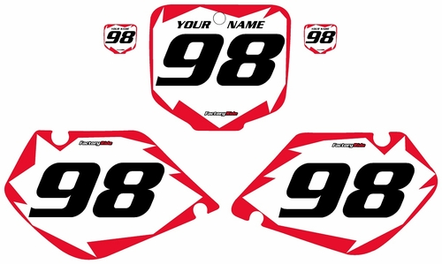 1997-1999 Honda CR250 Pre-Printed Backgrounds White - Red Shock Series by FactoryRide
