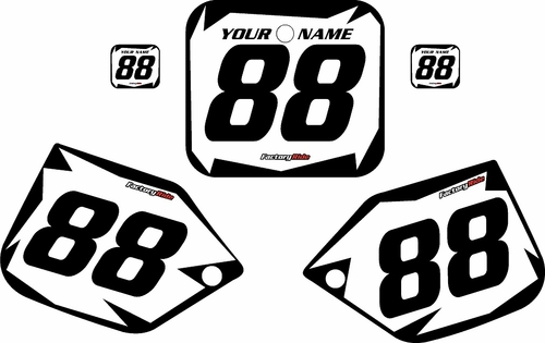 1987 Honda CR250 Pre-Printed Backgrounds White - Black Shock Series by FactoryRide