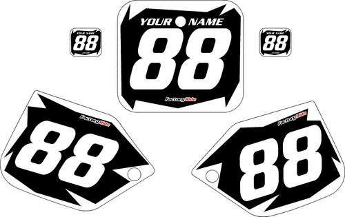 1987 Honda CR250 Pre-Printed Backgrounds Black - White Shock Series by FactoryRide