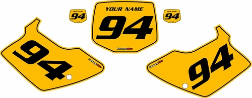 1994-1998 Kawasaki KX125 Custom Pre-Printed Yellow Background - Black Pinstripe by Factory Ride