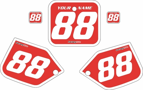 1987 Honda CR250 Pre-Printed Backgrounds Red - White Bold Pinstripe by FactoryRide