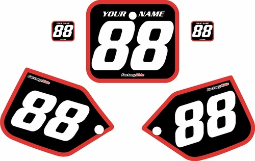 1987 Honda CR250 Pre-Printed Backgrounds Black - Red Bold Pinstripe by FactoryRide