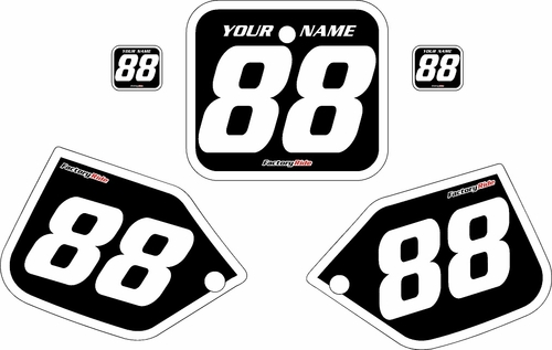 1987 Honda CR250 Pre-Printed Backgrounds Black - White Bold Pinstripe by FactoryRide