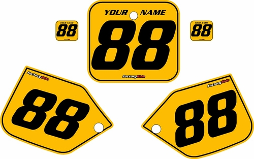 1987 Honda CR250 Pre-Printed Backgrounds Yellow - Black Pinstripe by FactoryRide