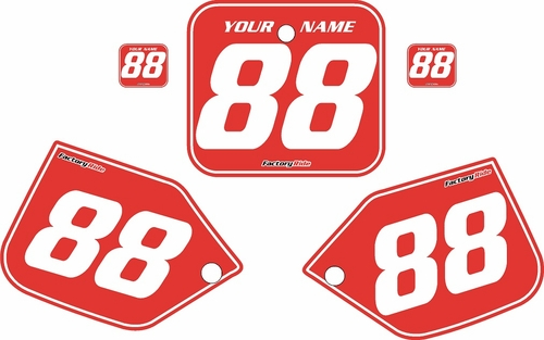 1987 Honda CR250 Pre-Printed Backgrounds Red - White Pinstripe by FactoryRide