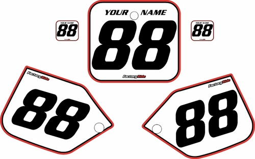 1987 Honda CR250 Pre-Printed Backgrounds White - Red Pro Pinstripe by FactoryRide