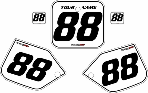 1987 Honda CR250 Pre-Printed Backgrounds White - Black Pinstripe by FactoryRide