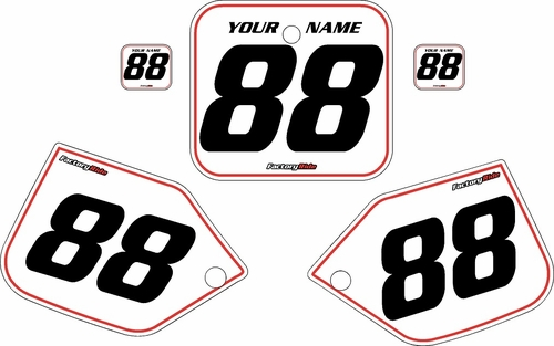 1987 Honda CR250 Pre-Printed Backgrounds White - Red Pinstripe by FactoryRide