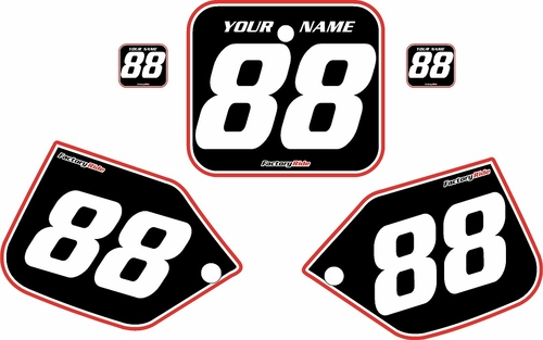 1987 Honda CR250 Pre-Printed Backgrounds Black - Red Pro Pinstripe by FactoryRide