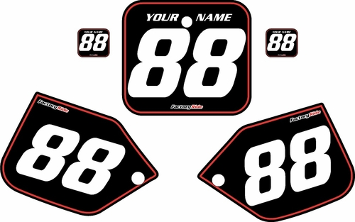 1987 Honda CR250 Pre-Printed Backgrounds Black - Red Pinstripe by FactoryRide