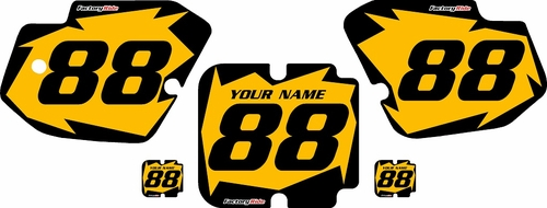 1988 Kawasaki KX500 Custom Pre-Printed Yellow Background - Black Shock Series by Factory Ride