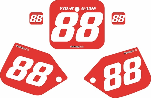 1987 Honda CR250 Pre-Printed Backgrounds Red - White Numbers by FactoryRide