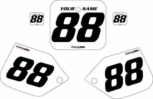 1987 Honda CR250 Pre-Printed Backgrounds White - Black Numbers by FactoryRide