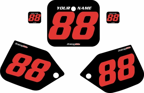 1987 Honda CR250 Pre-Printed Backgrounds Black - Red Numbers by FactoryRide