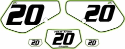 1991-1994 Kawasaki KDX250 Custom Pre-Printed Background White - Green Pro Pinstripe by Factory Ride