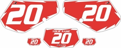1991-1994 Kawasaki KDX250 Custom Pre-Printed Background Red - White Shock by Factory Ride