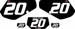 1991-1994 Kawasaki KDX250 Custom Pre-Printed Background Black - White Numbers by Factory Ride
