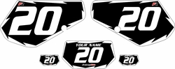 1991-1994 Kawasaki KDX250 Custom Pre-Printed Background Black - White Shock by Factory Ride