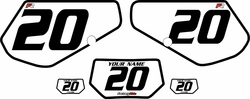 1991-1994 Kawasaki KDX250 Custom Pre-Printed Background White - Black Bold Pinstripe by Factory Ride