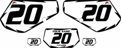 1991-1994 Kawasaki KDX250 Custom Pre-Printed Background White - Black Shock by Factory Ride