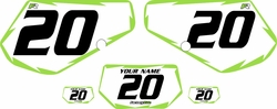 1991-1994 Kawasaki KDX250 Custom Pre-Printed Background White - Green Shock by Factory Ride