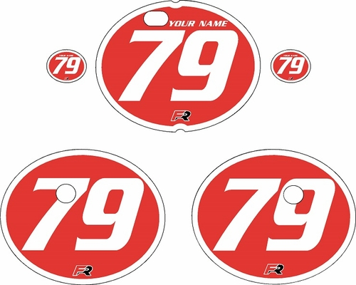 1979-1980 Suzuki RM250 Red Pre-Printed Backgrounds - White Bold Pinstripe by FactoryRide